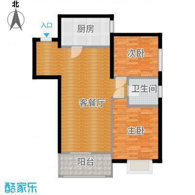 曲江上郡92.30㎡F户型2室1厅1卫1厨