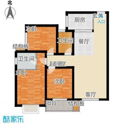皇族名居2期124.00㎡皇族名居2期户型图户型图3室2厅2卫1厨户型3室2厅2卫1厨