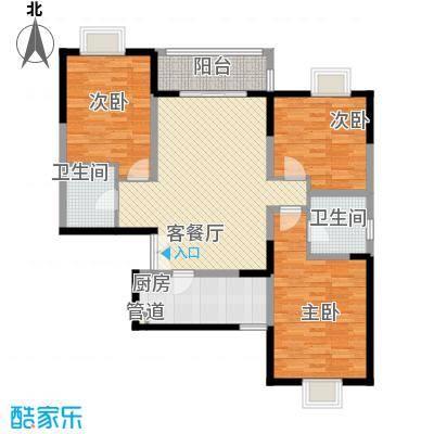 新兴骏景园二期124.45㎡新兴骏景园二期户型图D-01户型3室2厅2卫1厨户型3室2厅2卫1厨