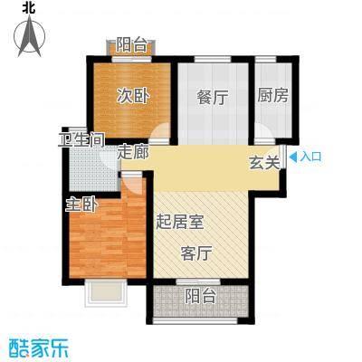 易合坊102.00㎡易合坊户型图D户型2室2厅1卫1厨户型2室2厅1卫1厨