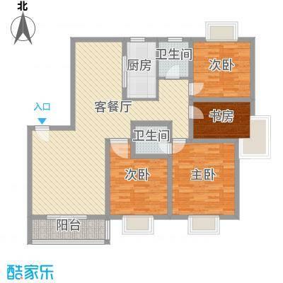 格林春天项目137.85㎡格林春天项目户型图5号楼4室2厅2卫1厨户型4室2厅2卫1厨