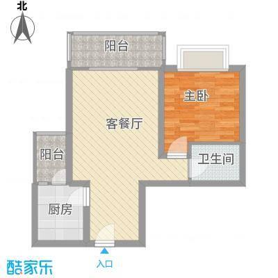 格林春天项目66.57㎡格林春天项目户型图B312F户型1室2厅1卫1厨户型1室2厅1卫1厨