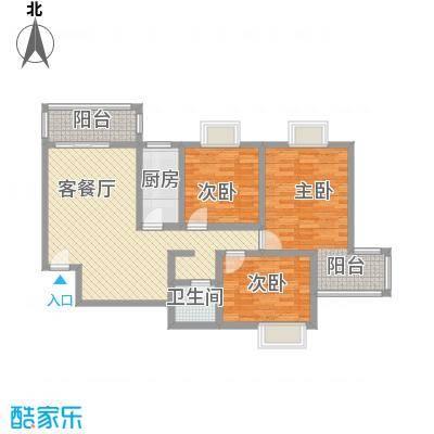 格林春天项目115.90㎡格林春天项目户型图2D户型3室2厅1卫1厨户型3室2厅1卫1厨