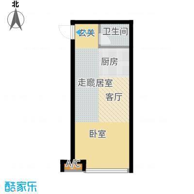 时丰中央公园53.43㎡时丰中央公园户型图3#J1室1厅1卫1厨户型1室1厅1卫1厨