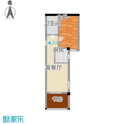 半坡国际广场66.01㎡半坡国际广场户型图D户型2室2厅1卫1厨户型2室2厅1卫1厨