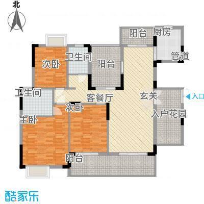 翠馨华庭户型图3室2厅户型图 3室2厅1卫1厨