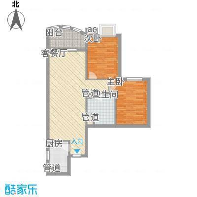 �泰大厦87.46㎡�泰大厦户型图A座9-31层6单位2室2厅1卫1厨户型2室2厅1卫1厨