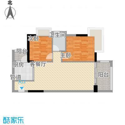 广州富力城90.00㎡广州富力城户型图F6-02单位二房二厅80.16平方米副本2室2厅户型2室