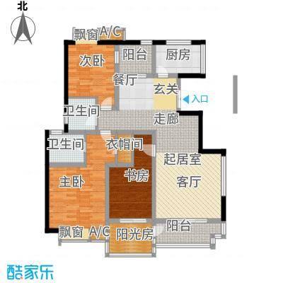 天朗西子湖144.72㎡天朗西子湖户型图21号楼-F3户型3室2厅2卫1厨户型3室2厅2卫1厨