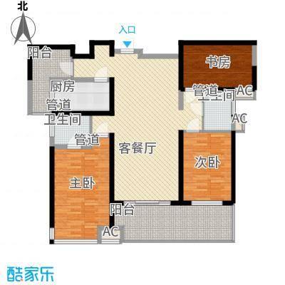 东安叁城127.84㎡东安叁城户型图C2户型图3室2厅2卫1厨户型3室2厅2卫1厨