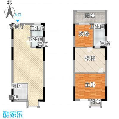 三泰茗居三泰茗居户型图户型-s2室2厅2卫1厨户型2室2厅2卫1厨