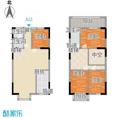 三泰茗居三泰茗居户型图户型-v4室2厅2卫1厨户型4室2厅2卫1厨