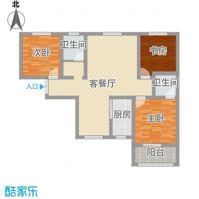 江山十里110.37㎡江山十里户型图B户型3室2厅2卫1厨户型3室2厅2卫1厨