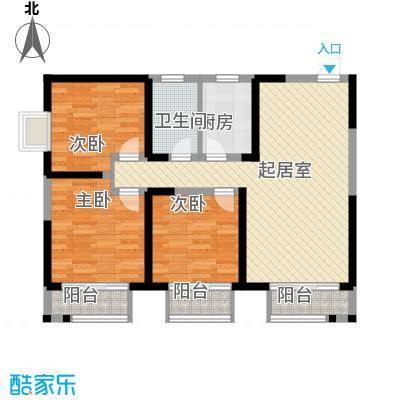 西盟公社108.33㎡西盟公社户型图E户型3室2厅1卫1厨户型3室2厅1卫1厨