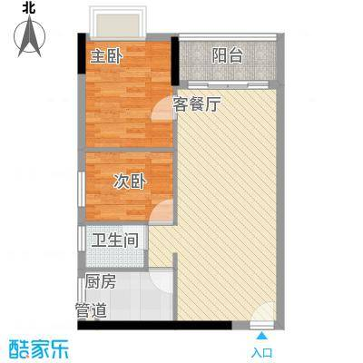 东山水恋72.49㎡东山水恋户型图2室2厅户型图2室2厅1卫1厨户型2室2厅1卫1厨