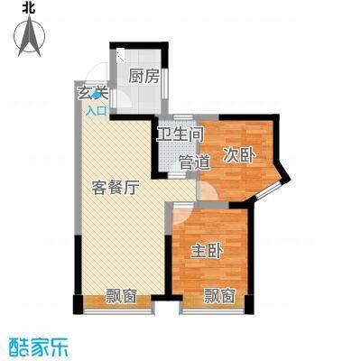 曲江城市花园85.63㎡F3户型(售罄)户型2室2厅1卫1厨