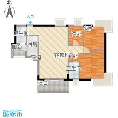 东山水恋104.84㎡东山水恋三室户型10室