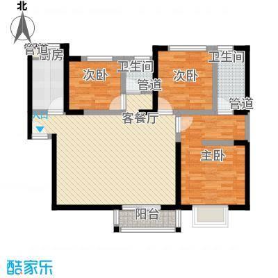 万象嘉城105.00㎡万象嘉城户型图4号楼E户型3室2厅2卫1厨户型3室2厅2卫1厨
