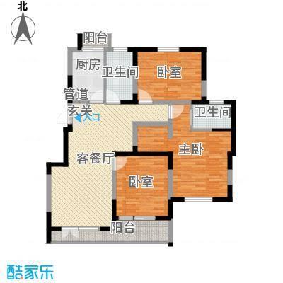 世家星城130.00㎡世家星城户型图3室2厅2卫户型3室2厅2卫