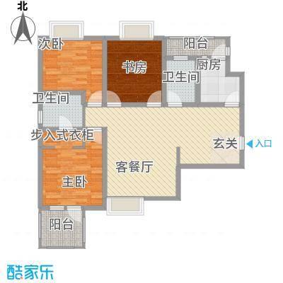 金色家园126.81㎡金色家园户型图1#A/D户型3室2厅2卫1厨户型3室2厅2卫1厨