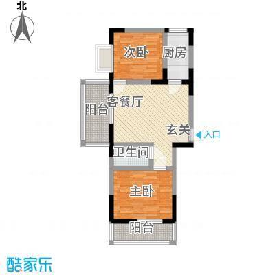 利庆・香榭花城80.50㎡利庆・香榭花城户型图4号楼C户型2室2厅1卫1厨户型2室2厅1卫1厨