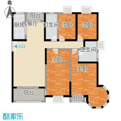曲江6号186.26㎡曲江6号户型图户型图4室2厅2卫1厨户型4室2厅2卫1厨