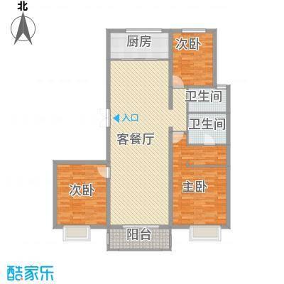 曲江风景线150.12㎡曲江风景线户型图B23室2厅2卫1厨户型3室2厅2卫1厨