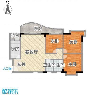 灵溪美居136.76㎡灵溪美居户型图3室2厅户型图3室2厅2卫1厨户型3室2厅2卫1厨