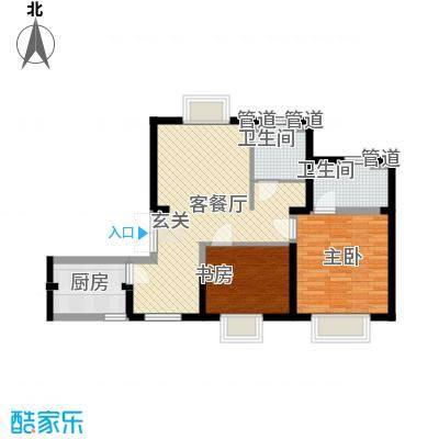 万家灯火82.28㎡万家灯火户型图2#1层4户型2室2厅2卫1厨户型2室2厅2卫1厨