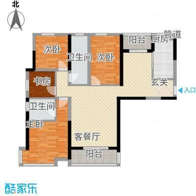 中铁万和城125.23㎡中铁万和城户型图F-1户型图3室2厅2卫1厨户型3室2厅2卫1厨