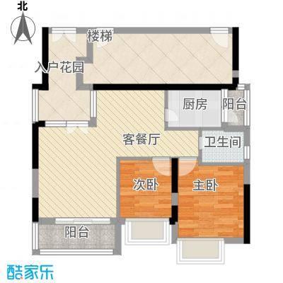 群星新�89.12㎡群星新�户型图3号楼O2室2厅1卫1厨户型2室2厅1卫1厨