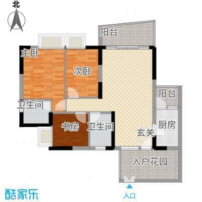 群星新�114.10㎡4号楼M1户型3室2厅2卫1厨