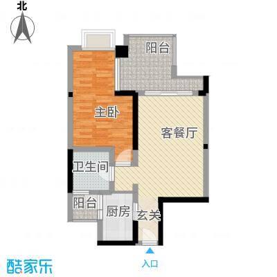 美居中心59.00㎡美居中心户型图1室2厅户型图1室2厅1卫1厨户型1室2厅1卫1厨