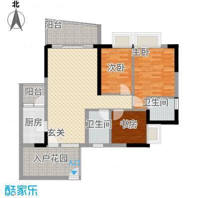 群星新�114.10㎡群星新�户型图4号楼M23室2厅2卫1厨户型3室2厅2卫1厨