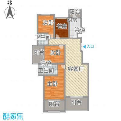 林隐天下130.26㎡林隐天下户型图hyr-A1-33室2厅2卫1厨户型3室2厅2卫1厨