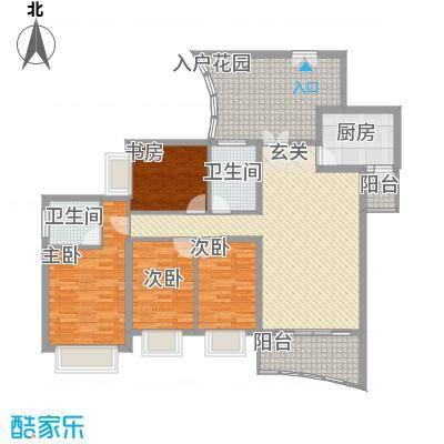 群星新�160.52㎡群星新�户型图7号楼B14室2厅2卫1厨户型4室2厅2卫1厨