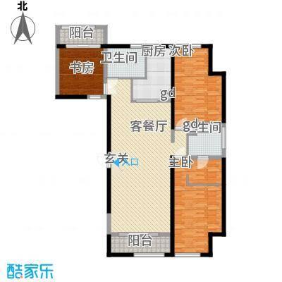 万科新地城143.00㎡万科新地城户型图紫台d1户型3室2厅2卫1厨户型3室2厅2卫1厨
