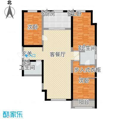 万科新地城145.00㎡万科新地城户型图D户型3室2厅2卫1厨户型3室2厅2卫1厨