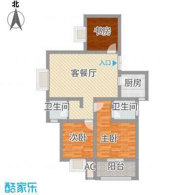 江山十里99.70㎡江山十里户型图C户型3室2厅2卫1厨户型3室2厅2卫1厨