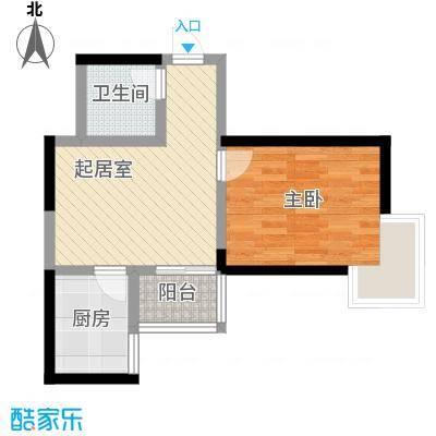 锦里户型图K户型 1室1厅1卫1厨