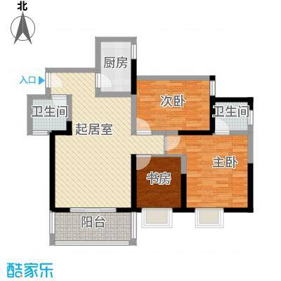 锦里户型图C户型 3室2厅2卫1厨