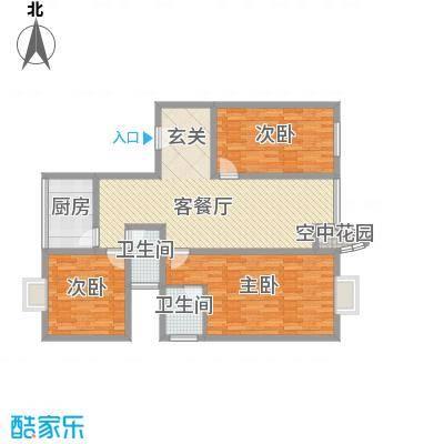东新城市花园135.00㎡东新城市花园户型图3室2厅2卫户型3室2厅2卫