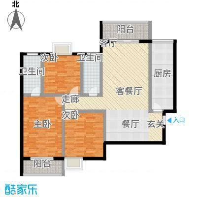 旭景新港126.83㎡旭景新港户型图3#A3室2厅2卫1厨户型3室2厅2卫1厨