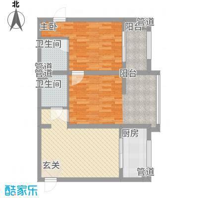 809库单位家属院90.00㎡809库单位家属院户型图2室1厅2卫户型2室1厅2卫