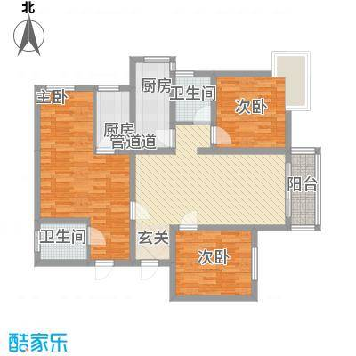 809库单位家属院123.00㎡809库单位家属院户型图3室2厅2卫户型3室2厅2卫