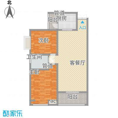 领汇双河湾114.06㎡领汇双河湾户型图户型单张-B3-32室2厅1卫1厨户型2室2厅1卫1厨