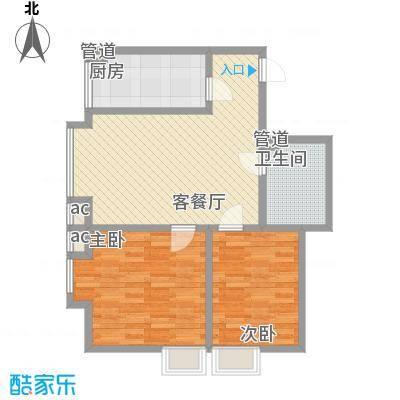 领汇双河湾81.85㎡领汇双河湾户型图户型单张-B2-12室2厅1卫1厨户型2室2厅1卫1厨