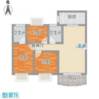 梦园小区91.00㎡梦园小区2室户型2室