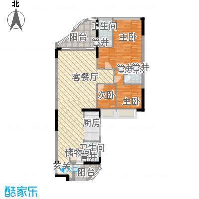 江畔华庭155.33㎡江畔华庭户型图4室2厅2卫1厨户型10室