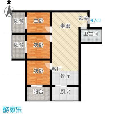 皇城西岸100.28㎡皇城西岸户型图户型图3室2厅1卫1厨户型3室2厅1卫1厨